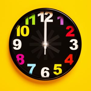 Clock for time